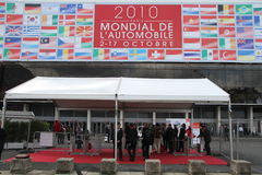 Salone dell'automobile di Parigi dell'entrata 2010 Fotografia Stock