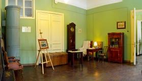 Salone di Anna Akhmatova alla Camera della fontana a St Petersburg fotografie stock