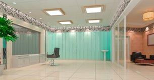 salone di capelli 3D, negozio di barbiere Immagine Stock