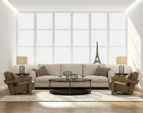 Salone di lusso elegante classico elegante Immagine Stock Libera da Diritti