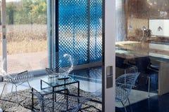 Salone di una casa moderna, Chicago, cuoco County, Illinois, Stati Uniti Fotografie Stock