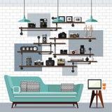Salone e Sofa Vector Immagine Stock