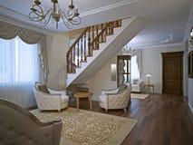 Salone elegante in casa privata Fotografie Stock