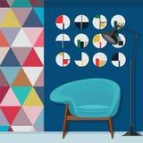 Salone fresco che decora Immagini Stock Libere da Diritti