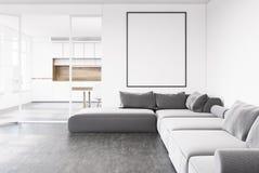 Salone grigio del sofà, manifesto, cucina illustrazione di stock