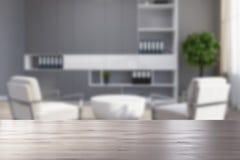 Salone grigio, poltrone bianche vaghe Immagini Stock