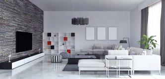 Salone, interior design illustrazione vettoriale