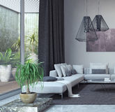 Salone, interior design Fotografia Stock