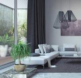 Salone, interior design fotografia stock