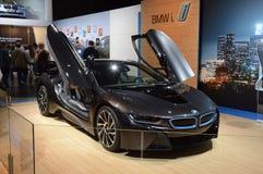 Salone internazionale di lusso dell'automobile di BMW i8 Mosca Fotografia Stock Libera da Diritti