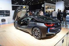 Salone internazionale premio dell'automobile di BMW i8 Mosca Fotografia Stock Libera da Diritti