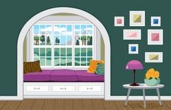 Salone interno illustrazione vettoriale