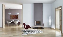 Salone interno moderno Royalty Illustrazione gratis