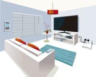 Salone interno moderno nella casa astuta Fotografia Stock