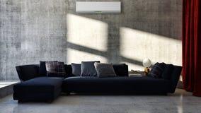 salone luminoso moderno degli interni con il illust del condizionamento d'aria fotografia stock libera da diritti