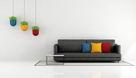 Salone minimalista Fotografie Stock Libere da Diritti