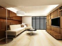 Salone moderno Immagini Stock