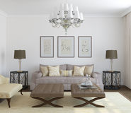 Salone moderno. royalty illustrazione gratis