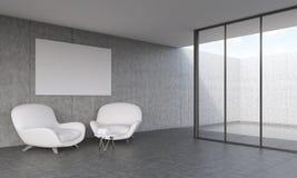 Salone moderno con i sofà royalty illustrazione gratis