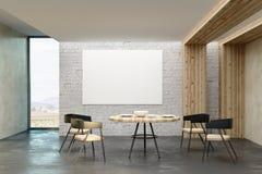 Salone moderno con il manifesto vuoto Fotografia Stock
