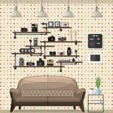 Salone moderno d'annata Fotografia Stock