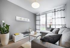 Salone moderno di interior design Immagine Stock Libera da Diritti