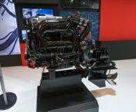Salone Nautico - взгляд внутренности двигателей и рекламодателей стоковые изображения rf