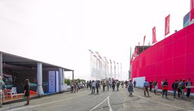 Salone Nautico, Genova, Italy 2017. Salone Nautico is an international federation boat show that puts in exposition yachts, boats, engines, unique designs and so Royalty Free Stock Photo