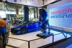 Salone Nautico - Innenansicht eines Honda-Autos Lizenzfreie Stockfotos