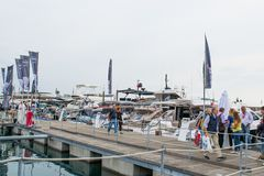 Salone Nautico, Genova, Italy 2017. Salone Nautico is an international federation boat show that puts in exposition yachts, boats, engines, unique designs and so Stock Photography