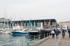 Salone Nautico, Genova, Italy 2017. Salone Nautico is an international federation boat show that puts in exposition yachts, boats, engines, unique designs and so Royalty Free Stock Images