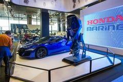 Salone Nautico - opinión del interior de un coche de Honda Fotos de archivo libres de regalías