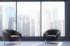 Salone panoramico, due poltrone Immagine Stock Libera da Diritti