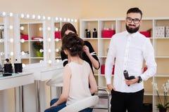 Salone, trucco e designazione di bellezza nel salone, nei parrucchieri e nel truccatore, Immagine Stock Libera da Diritti
