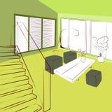 Salone verde Immagini Stock