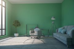Salone verde contemporaneo royalty illustrazione gratis