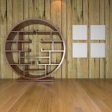 Salone vuoto minimalista contemporaneo illustrazione vettoriale