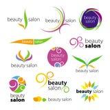 Salones de belleza de los logotipos Imágenes de archivo libres de regalías