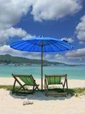 Salones de un paraguas pintoresco y de la calesa Foto de archivo libre de regalías