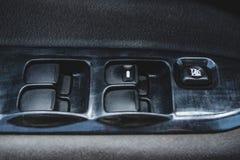 Salong av en bil, delar från läder och plast- royaltyfri fotografi