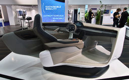Salong av en bil på IAA-bilarna Royaltyfri Foto