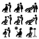 salong för symbol för barberarehårfrisör Royaltyfri Fotografi