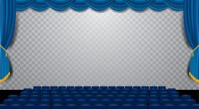Salongblåttfyrkant stock illustrationer