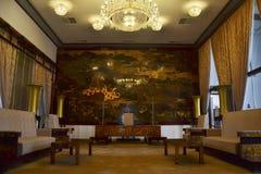Salongrum i presidentpalatset Ho Chi Minh Royaltyfri Foto