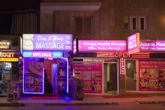 Saloni di massaggio cinesi immagini stock