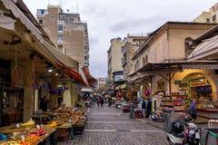 Salonicco, Grecia - 17 dicembre 2017 - via a Salonicco del centro, Grecia Immagini Stock