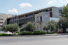 Salonicco, Grecia - 4 settembre 2016: Costruzioni del comune di Salonicco Fotografia Stock