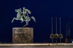 Saloniki bis zum Nacht, Griechenland stockfotografie
