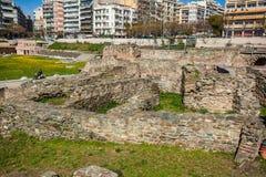 10 03 2018 Saloniki, Grecja - Osmański bathhouse Bey Hamam lo obrazy stock