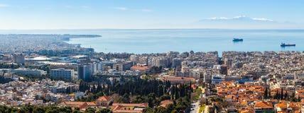 10 03 2018 Saloniki, Grecja - Panoramiczny widok Saloniki Obraz Stock